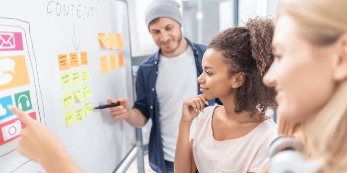 Marketing Team Planning Content