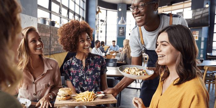 Happy Restaurant customers