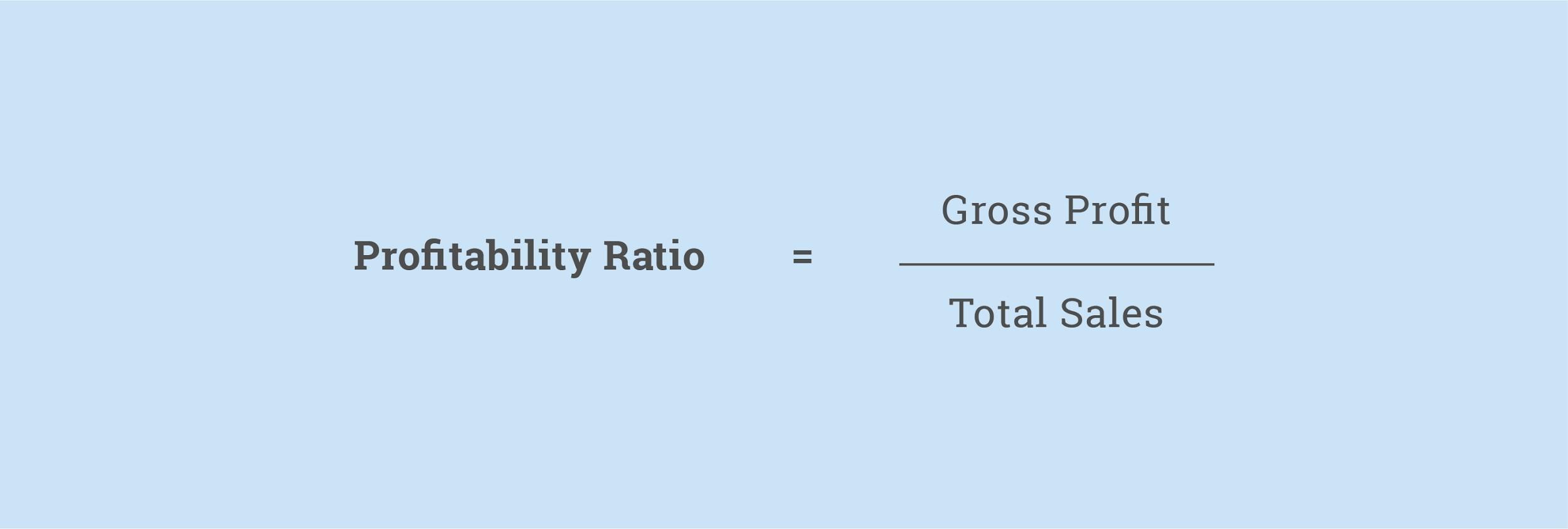 Profitability Ratio Formula